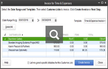 Batched Invoicing for Time and Expenses