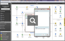 QuickBooks Instant Messenger lets you now directly chat with remote users and perform actions, such as logging them out, even when they are not at their computer.