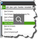 QuickBooks tip of the day: Open up two company files at the same time 1