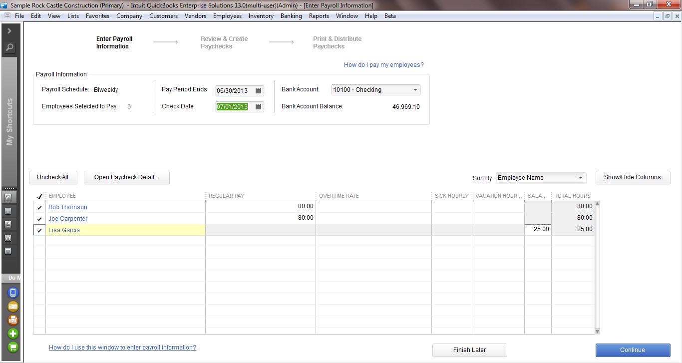 QuickBooks Enterprise Payroll & Employees - Intuit ...